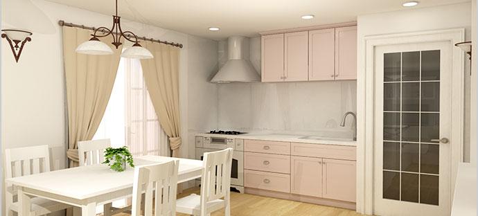 可愛いキッチン Pale-tone